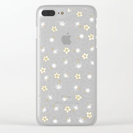 Hibiscus and Plumeria Clear iPhone Case