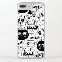 Cats pattern Clear iPhone Case