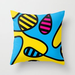 CMYBees Throw Pillow