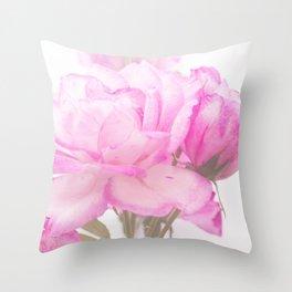 Light Pink Blend Rose #1 #floral #decor #art #society6 Throw Pillow
