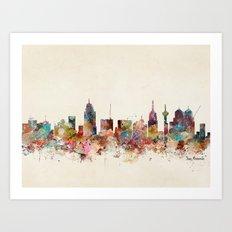 san antonio texas skyline Art Print