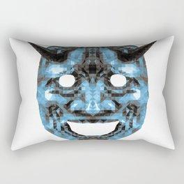 Hannya - low poly Rectangular Pillow