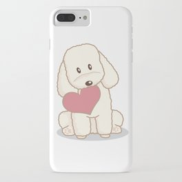 Toy Poodle Dog with Love Illustration iPhone Case