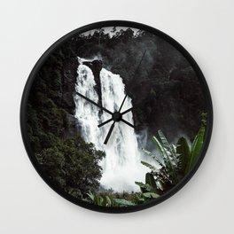 Waterfall XX / Sri Lanka Wall Clock