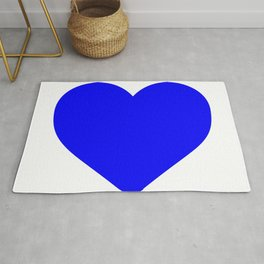 Heart (Blue & White) Rug