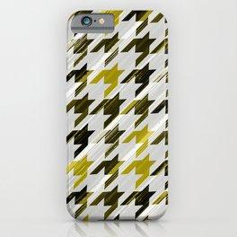Glen Plaid. Black and mustard. iPhone Case