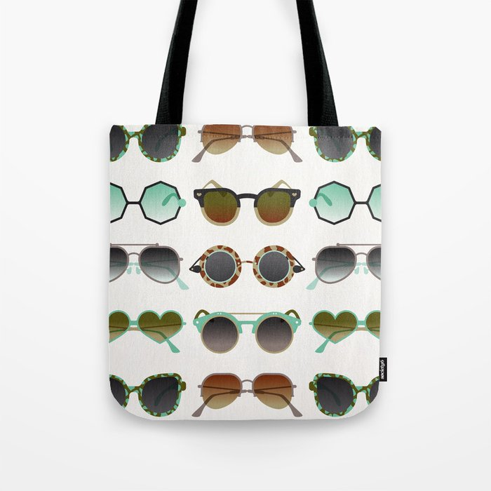 Sunglasses Collection – Mint & Tan Palette Tote Bag