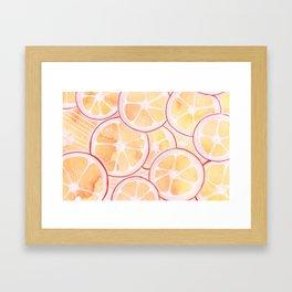 Tangerine Ring Party! Framed Art Print