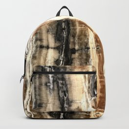 Creamy Caramel and Chocolate Fudge Marble Pattern Backpack