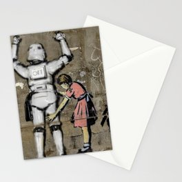 Girl and clone Stationery Cards