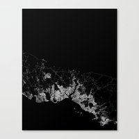 istanbul Canvas Prints featuring Istanbul  by Line Line Lines