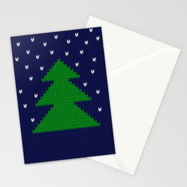 Knitted Christmas tree Stationery Cards