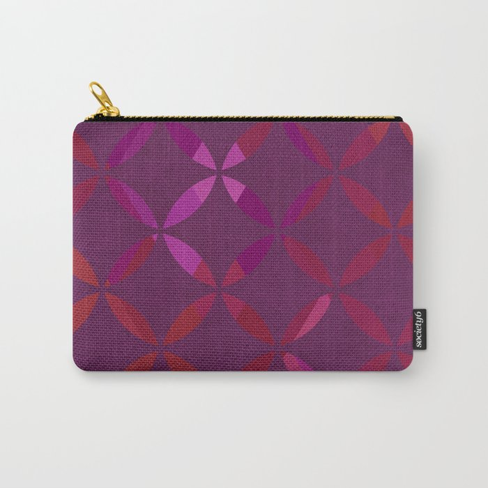 Fancy red and pink circle pattern Carry-All Pouch