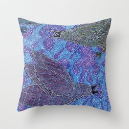 Crows in the Rain Throw Pillow