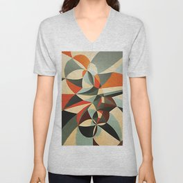Abstract Composition 346 Unisex V-Neck