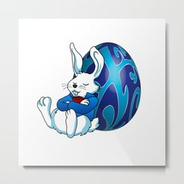 Sleeping Easter Bunny. Metal Print