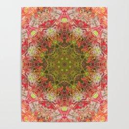 Camouflage Queen Mardi Gras (Mandala #187aa) Poster