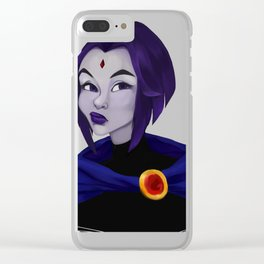 Skeptic Raven Clear iPhone Case