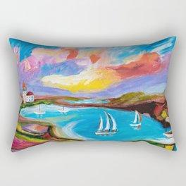 Idyllic Lakeview Rectangular Pillow