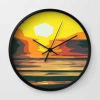 sunrise Wall Clocks featuring Sunrise by Nuam