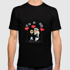 wedding in love) Black SMALL Mens Fitted Tee