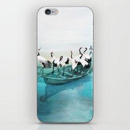 White Cranes iPhone Skin