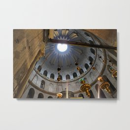 Church of the Holy Sepulchre oculus, Jerusalem Metal Print