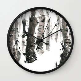 Winter snow mood Wall Clock