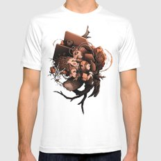 Slow Growth MEDIUM White Mens Fitted Tee