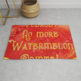 Please! No more Watermelon-Prints! - Living Hell Rug
