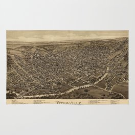 Map Of Titusville 1896 Rug