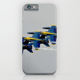 Navy's Blue Angels Airplanes in Formation Flight iPhone Case