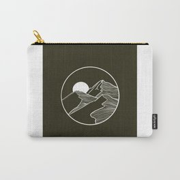 Mountain Sketch Artwork Carry-All Pouch