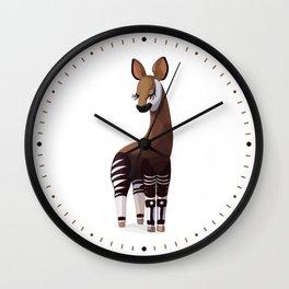Lovely okapi. Vector graphic character Wall Clock