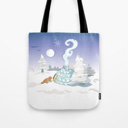 Winter Time Fox Tote Bag
