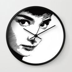 Audrey Hepburn Close Up Wall Clock