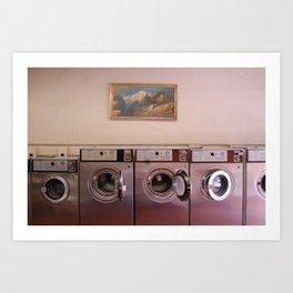 At the Laundromat Art Print
