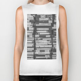 VHS Retro (Black and White) Biker Tank