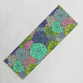 Succulent Pattern Yoga Mat
