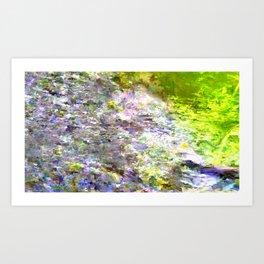 Moshed Forest Landscape Art Print