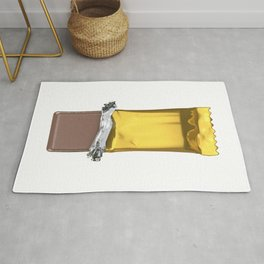 Chocolate candy bar in gold wrapper Rug