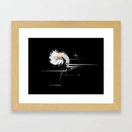 White Hair Girl Framed Art Print