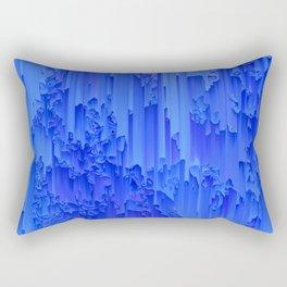 Melted, blue Rectangular Pillow