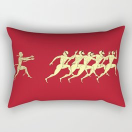 Ancient greece - red Rectangular Pillow