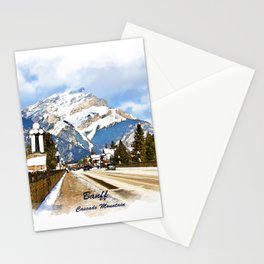 Cascade Mountain - Banff  Alberta Canada Stationery Cards