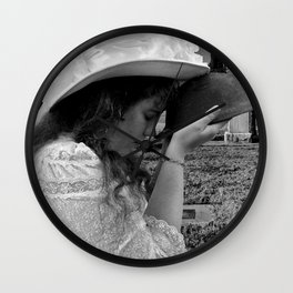 Gilded Memorial Black and White Wall Clock