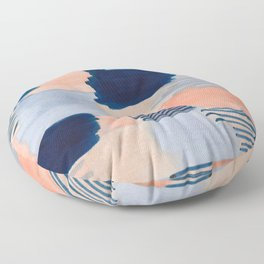salmon & blue Floor Pillow