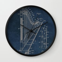 Ekman  Harp  patent art Wall Clock