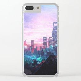 Io Alpha: Scifi City Clear iPhone Case