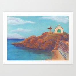 Church by the Sea Art Print